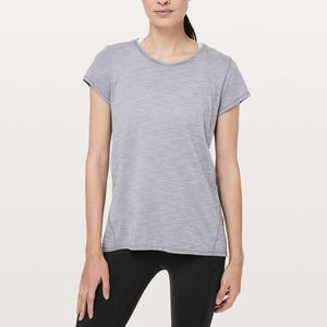 Lululemon Another Mile Short Sleeve in Lilac Stone